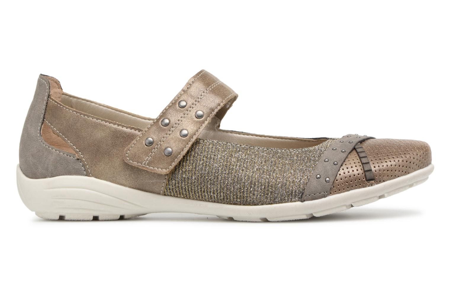 Ballet pumps Remonte Teen D4627 Bronze and Gold back view