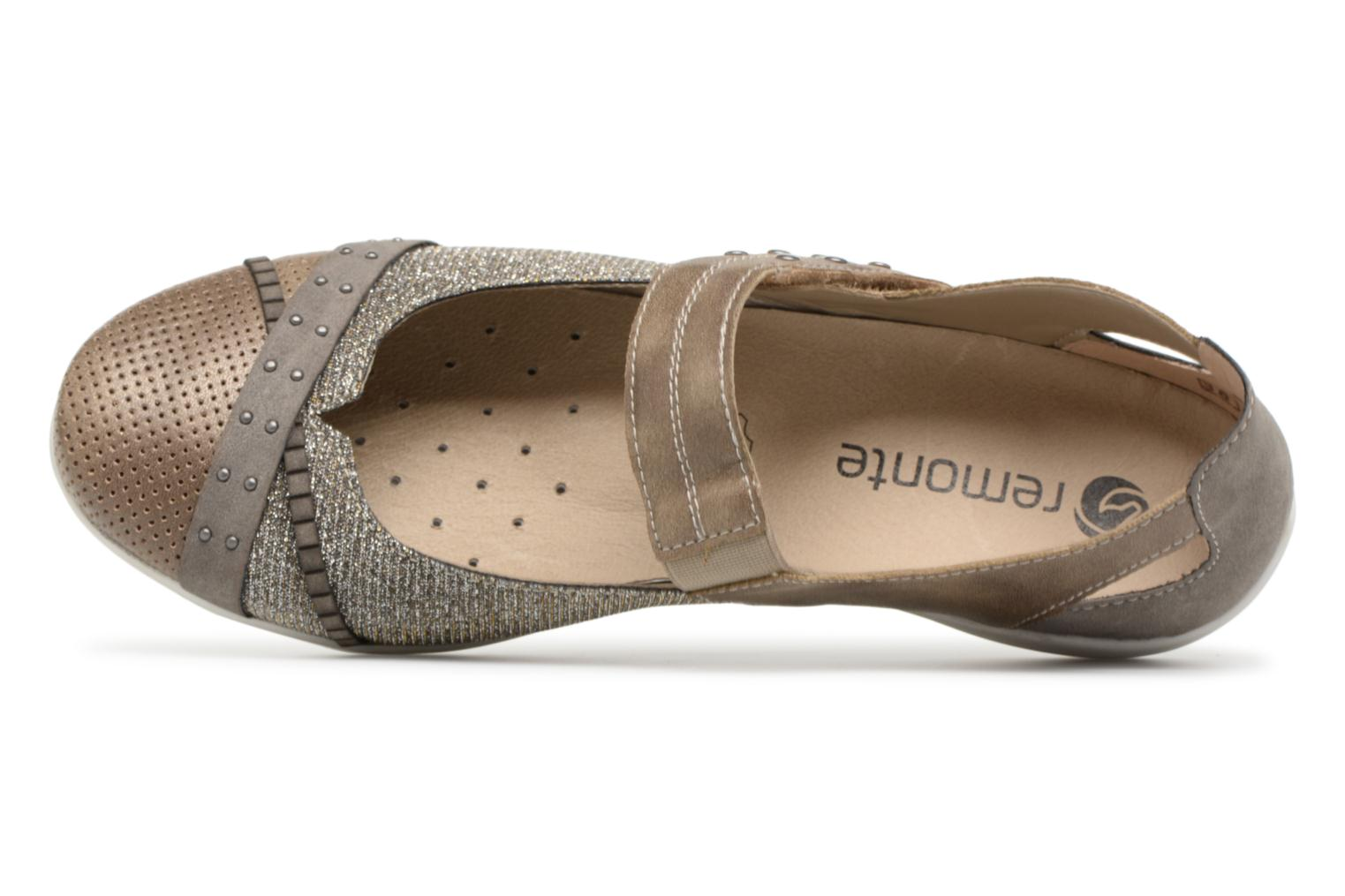 Ballet pumps Remonte Teen D4627 Bronze and Gold view from the left