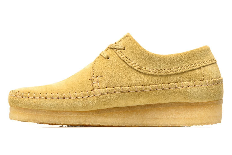 Snörade skor Clarks Originals Weaver M Beige bild från framsidan