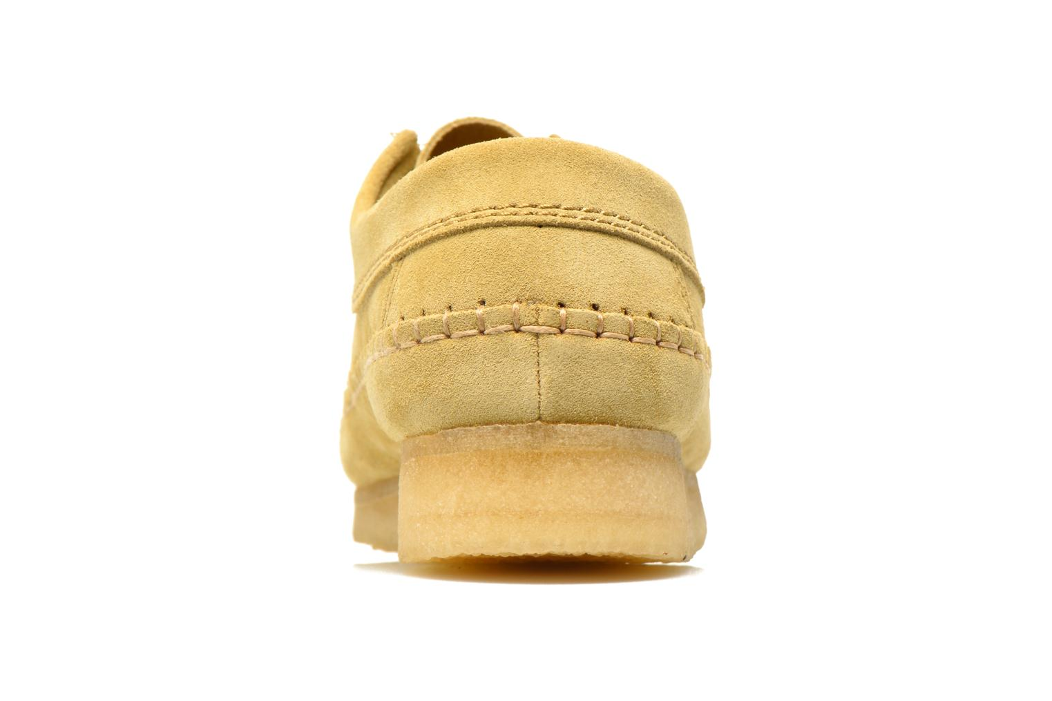 Lace-up shoes Clarks Originals Weaver M Beige view from the right