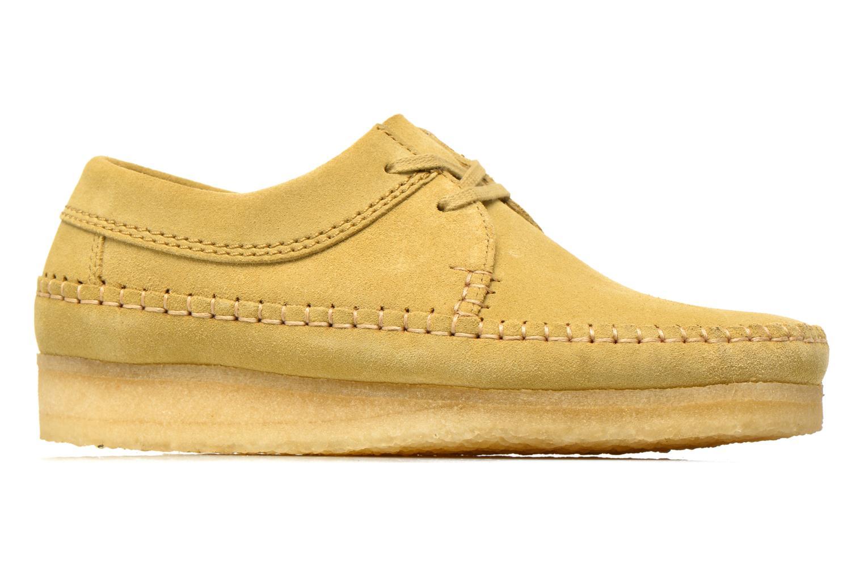 Snörade skor Clarks Originals Weaver M Beige bild från baksidan