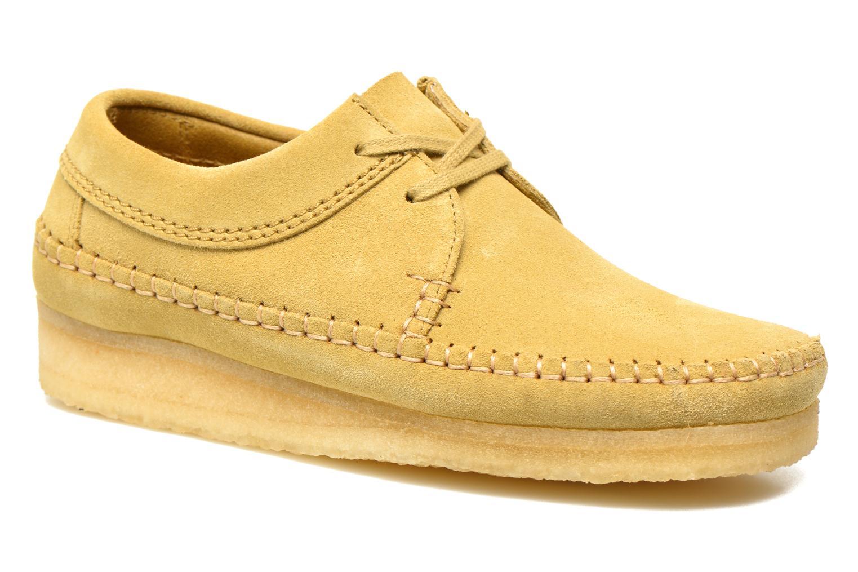 Snörade skor Clarks Originals Weaver M Beige detaljerad bild på paret