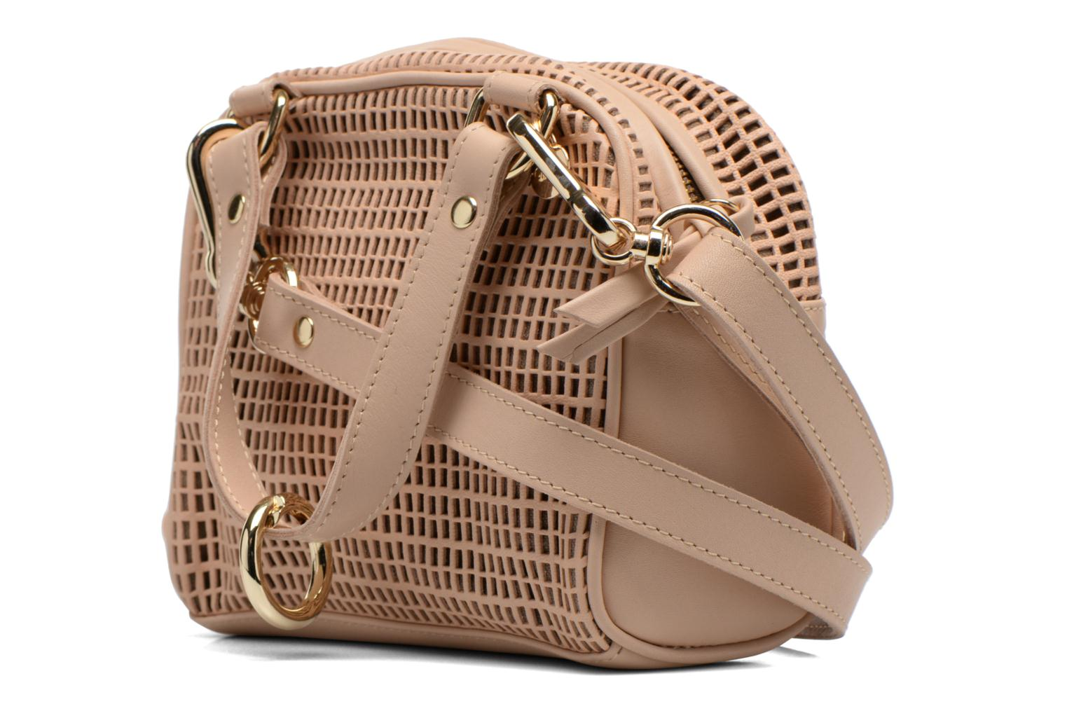 Handbags Craie Micro Casier Beige view from the right