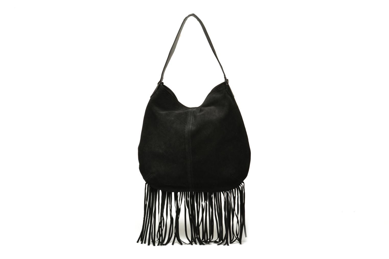 Handbags Pieces Tabatha suede Obo bag Black front view