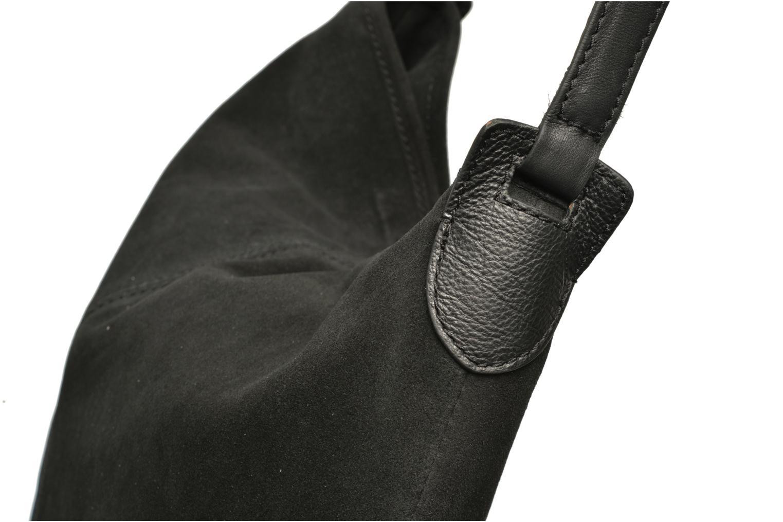 Sacs à main Pieces Tabatha suede Obo bag Noir vue gauche