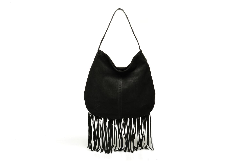 Handbags Pieces Tabatha suede Obo bag Black detailed view/ Pair view