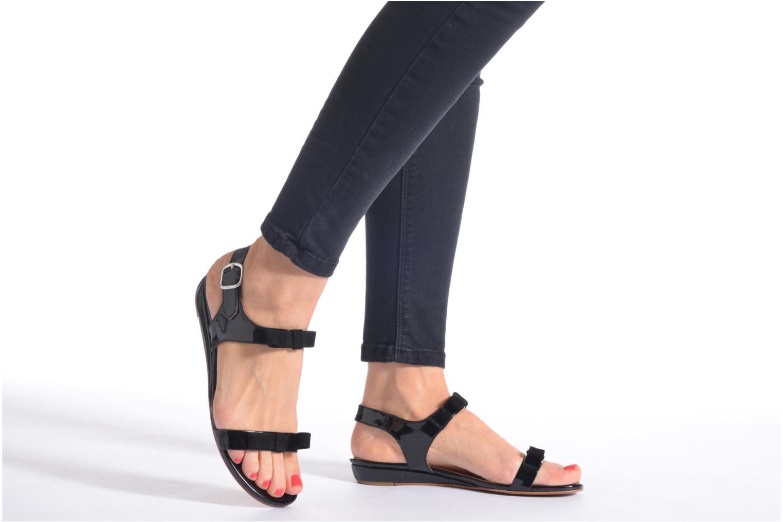 Sandales et nu-pieds Georgia Rose Anopa Bleu vue bas / vue portée sac