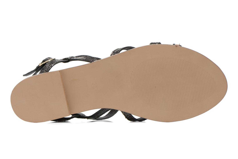 Sandalen Karston Sofor schwarz ansicht von oben