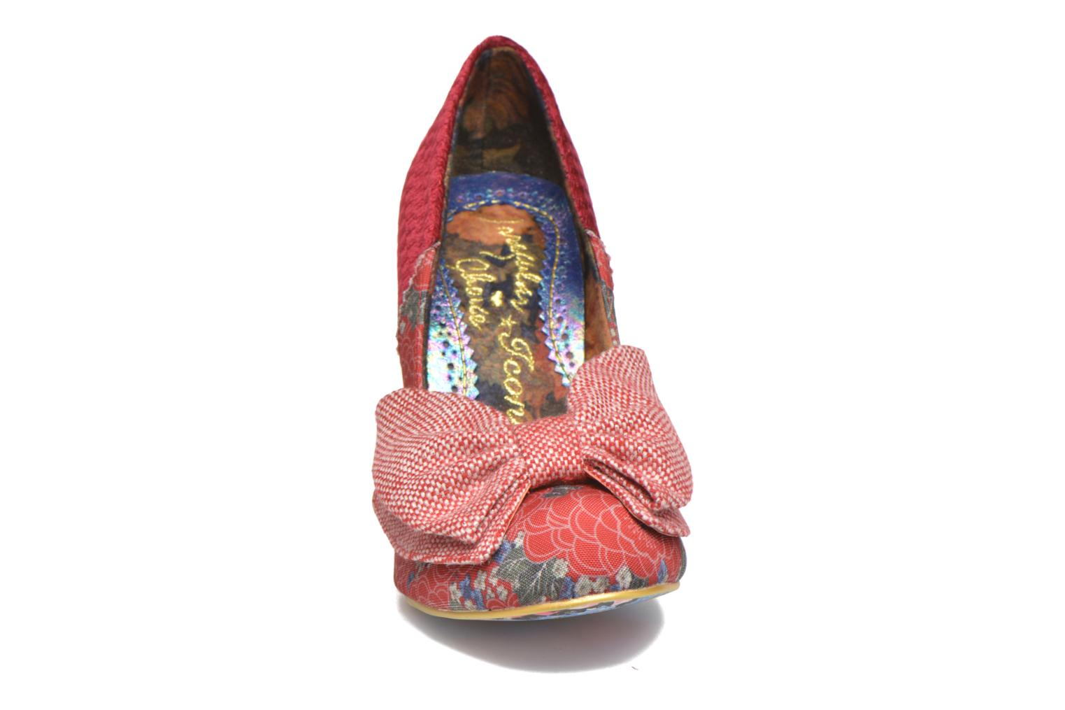 High heels Irregular choice Bowtina Red model view