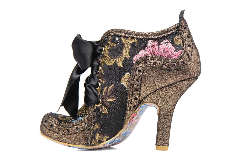 Chaussures à lacets Irregular Choice Abigail's Third Party Or et bronze vue face