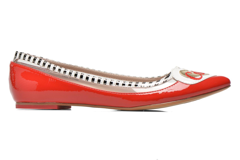 Ballerinas Coca-cola shoes Heart rot ansicht von hinten