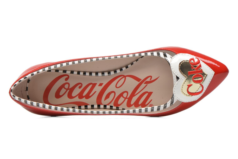 Ballerinas Coca-cola shoes Heart rot ansicht von links