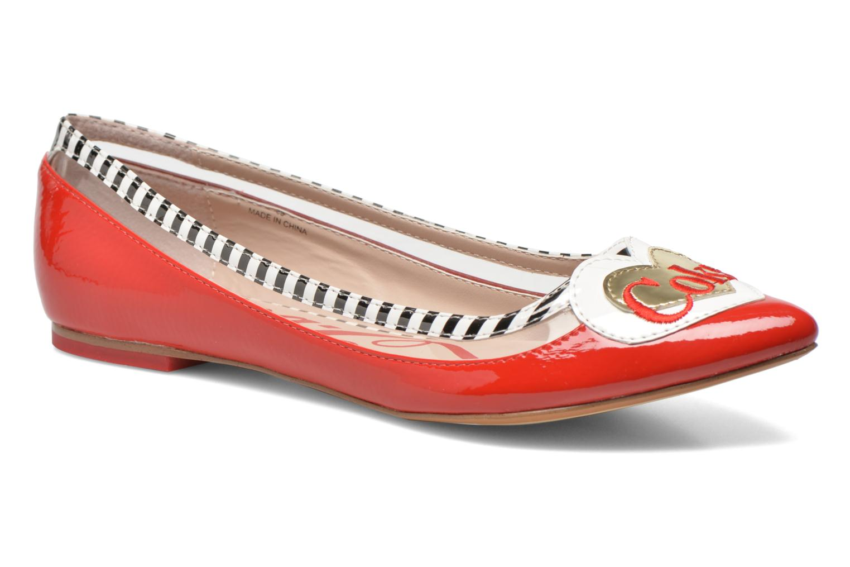 Ballerina Coca-cola shoes Heart Röd detaljerad bild på paret