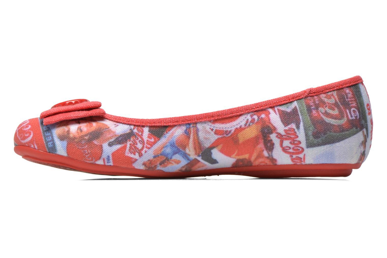 Ballet pumps Coca-cola shoes Tampinas Multicolor front view