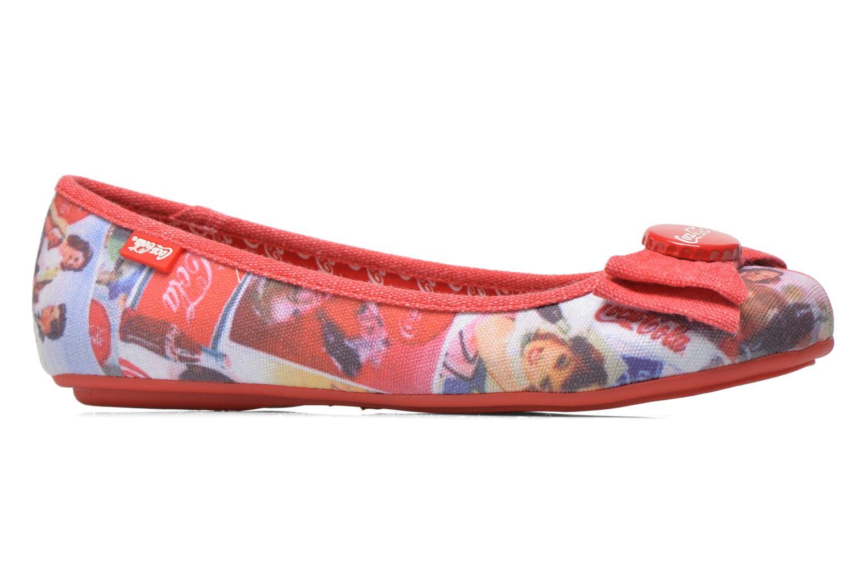 Ballet pumps Coca-cola shoes Tampinas Multicolor back view