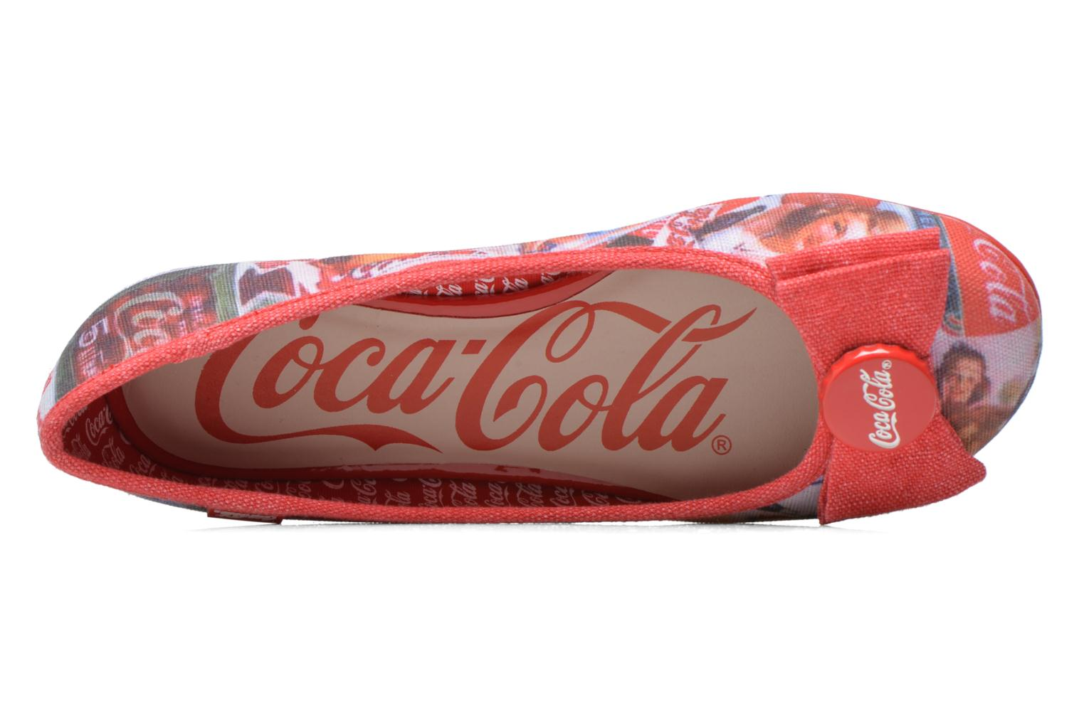 Ballet pumps Coca-cola shoes Tampinas Multicolor view from the left