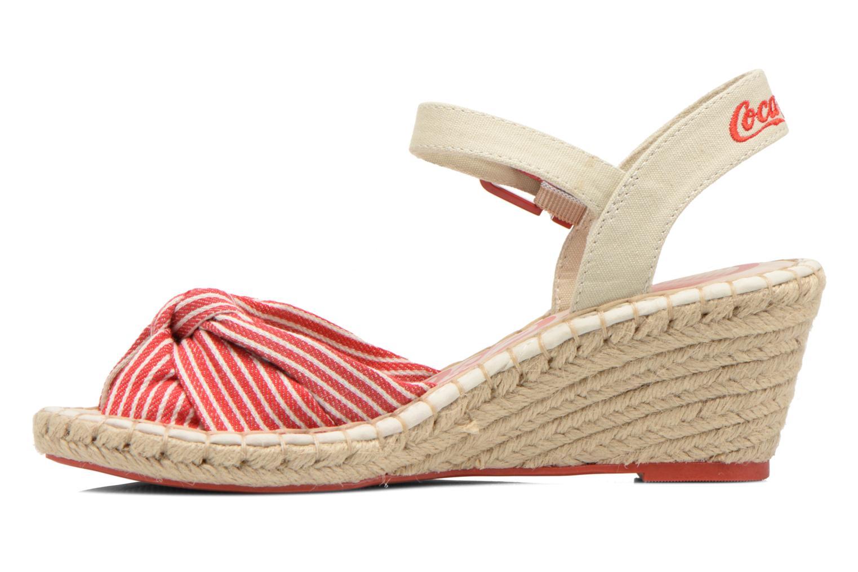 Sandales et nu-pieds Coca-cola shoes City Line Rouge vue face