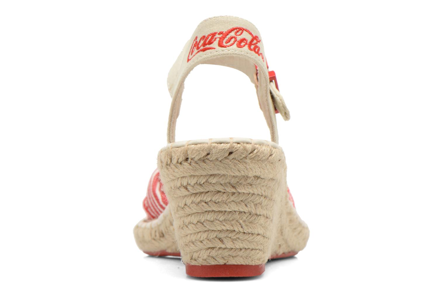Sandals Coca-cola shoes City Line Red view from the right