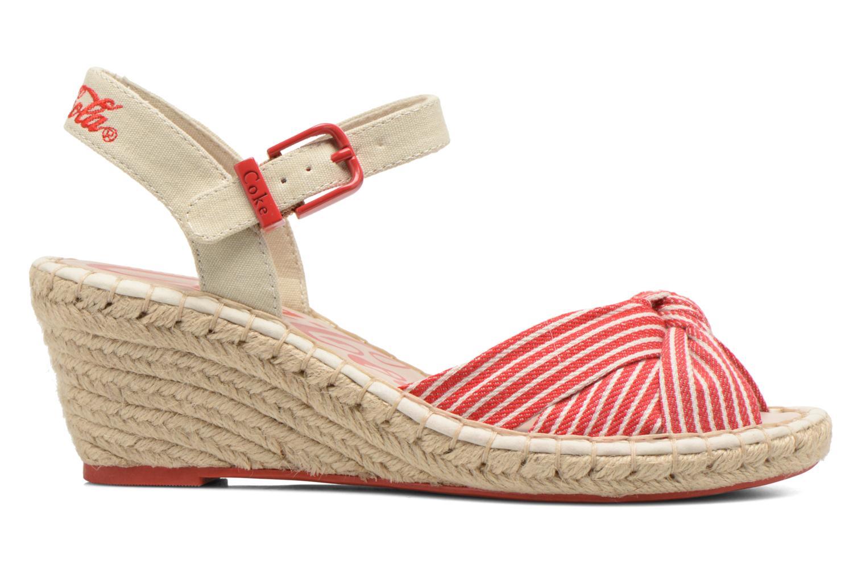 Sandales et nu-pieds Coca-cola shoes City Line Rouge vue derrière