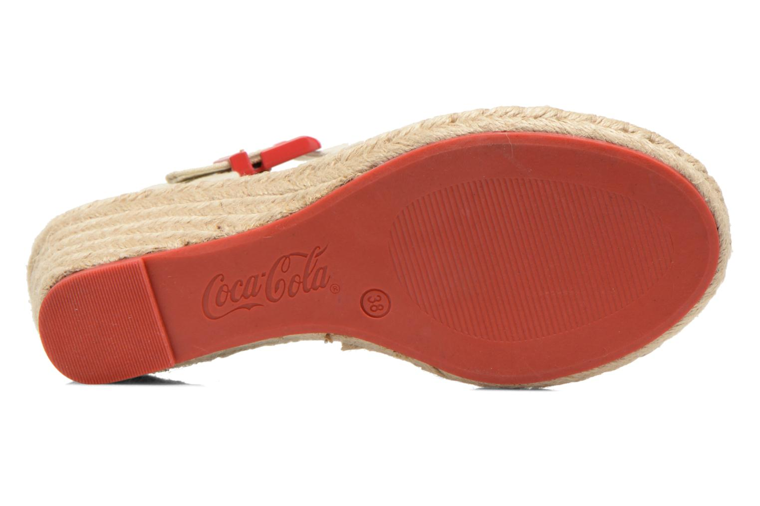 Sandals Coca-cola shoes City Line Red view from above