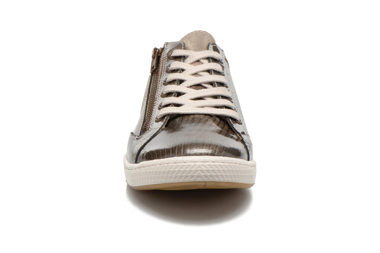 Baskets Pataugas Jester/V Or et bronze vue portées chaussures
