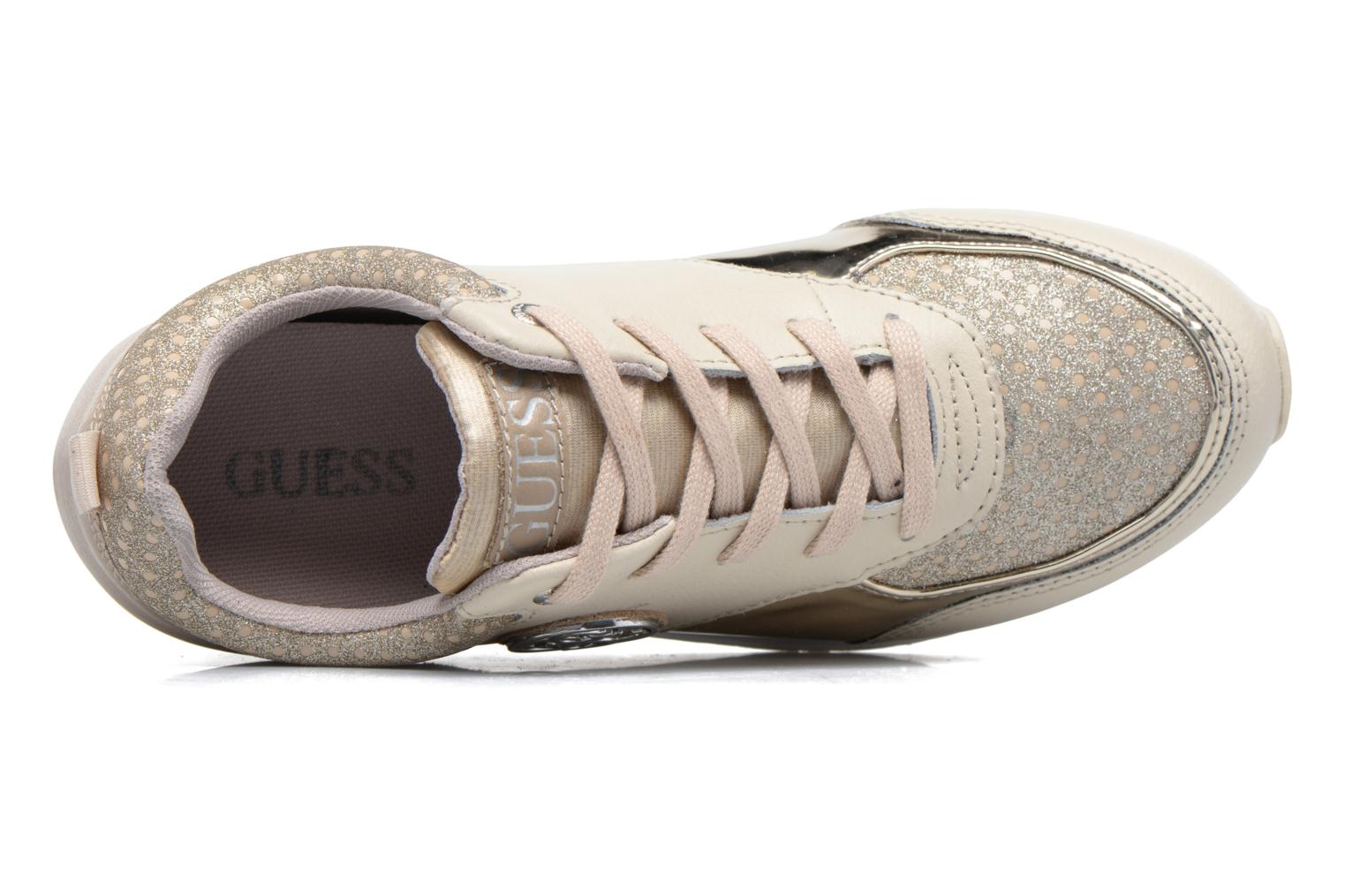 Trainers Guess Reeta Beige view from the left
