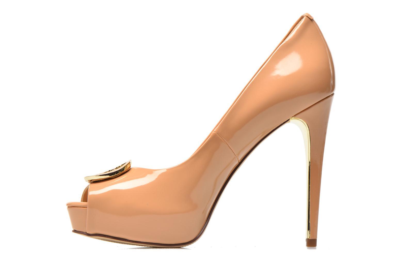 Zapatos de tacón Guess Happey2 Beige vista de frente