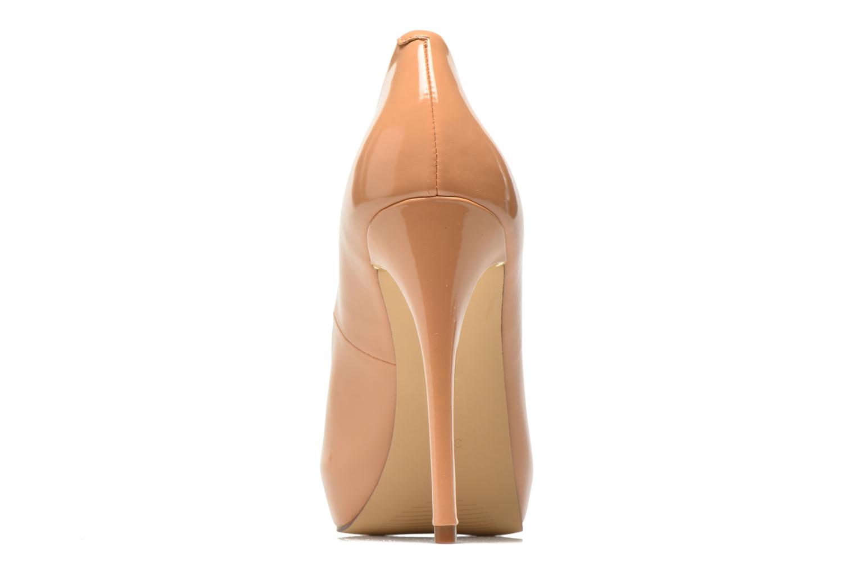 Zapatos de tacón Guess Happey2 Beige vista lateral derecha