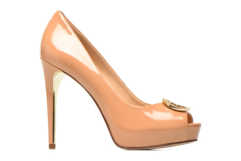Zapatos de tacón Guess Happey2 Beige vistra trasera