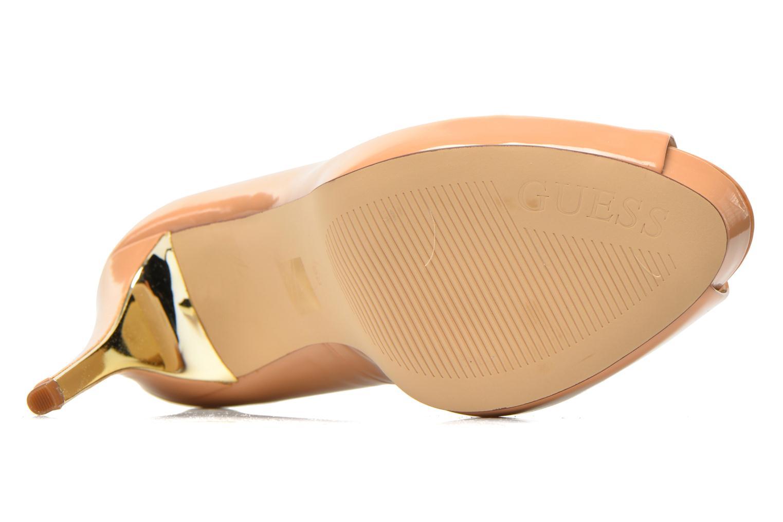 Zapatos de tacón Guess Happey2 Beige vista de arriba