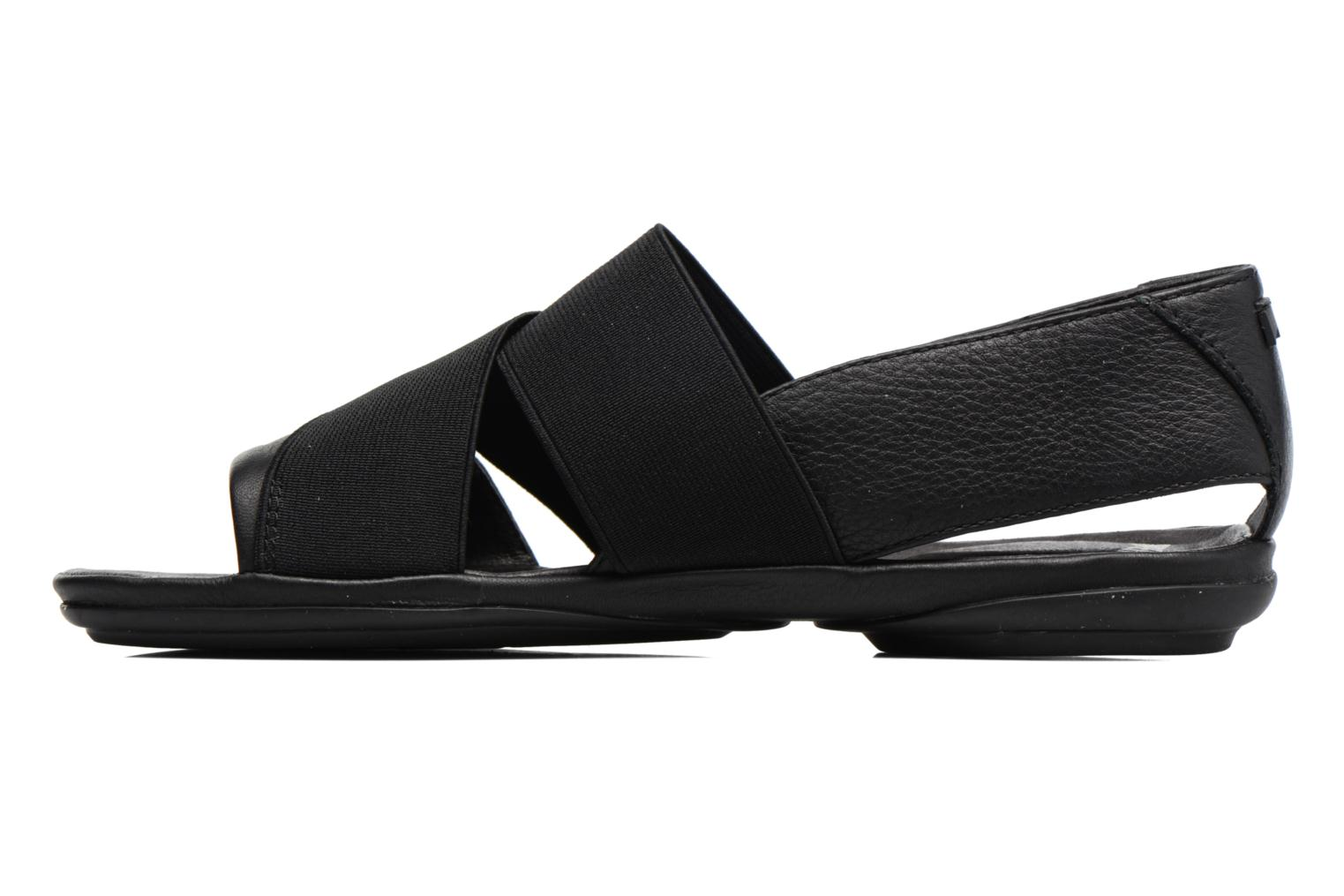 Sandals Camper Right Nina K200142 Black front view
