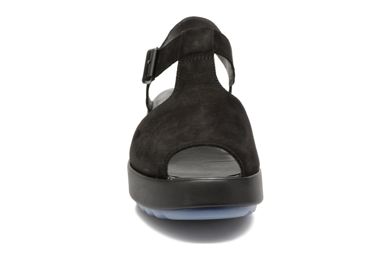 Sandalen Camper Dessa K200083 schwarz schuhe getragen