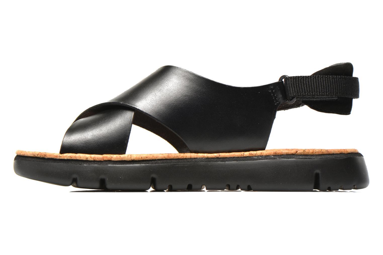 Sandales et nu-pieds Camper Oruga K200157 Noir vue face