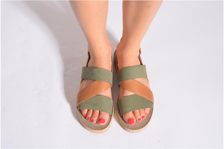 Sandales et nu-pieds Camper Pim Pom K200138 Gris vue bas / vue portée sac