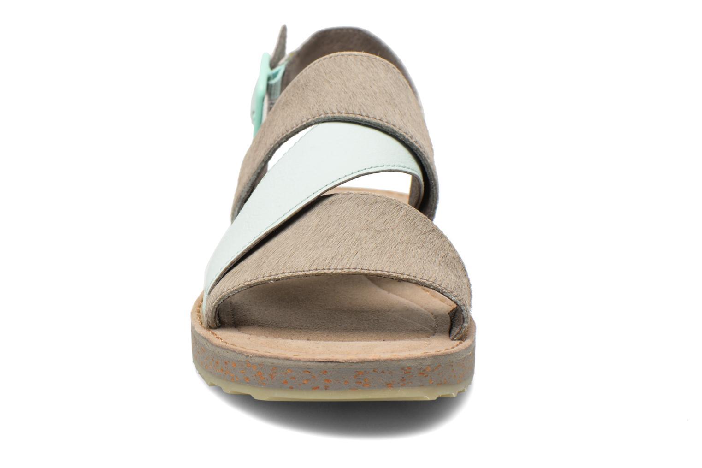 Sandales et nu-pieds Camper Pim Pom K200138 Gris vue portées chaussures