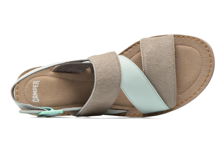 Sandales et nu-pieds Camper Pim Pom K200138 Gris vue gauche