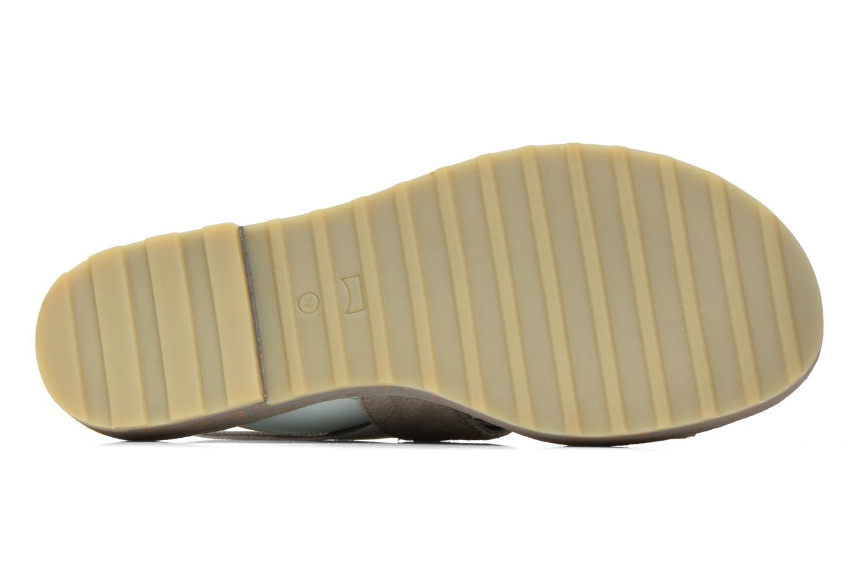 Sandales et nu-pieds Camper Pim Pom K200138 Gris vue haut