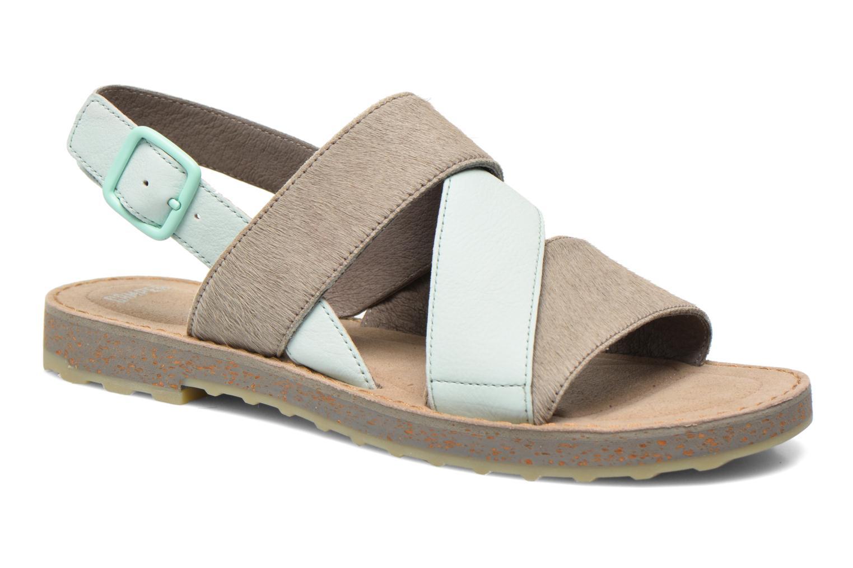 Sandales et nu-pieds Camper Pim Pom K200138 Gris vue détail/paire