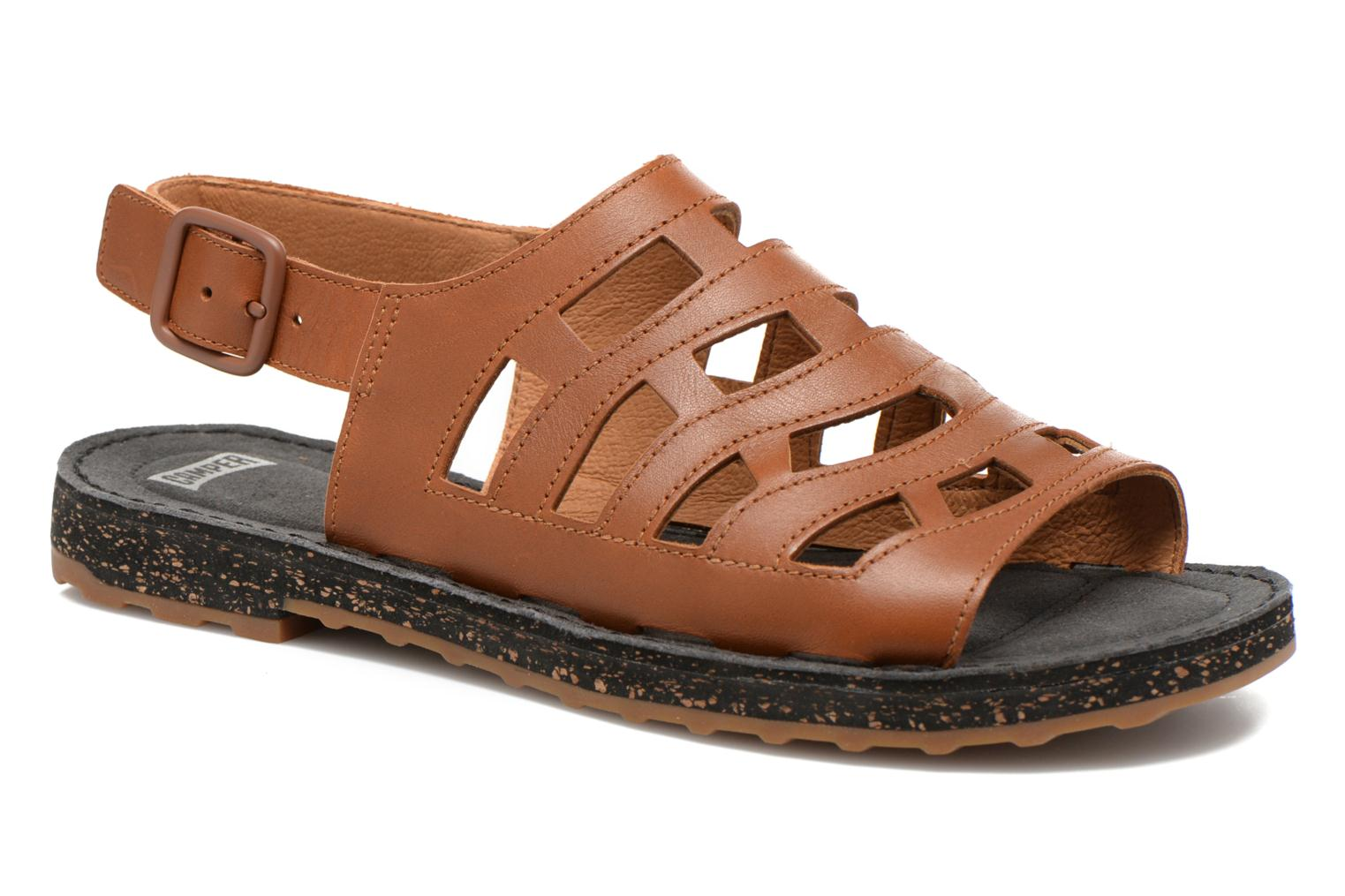 Sandals Camper Twss K200140 Brown detailed view/ Pair view