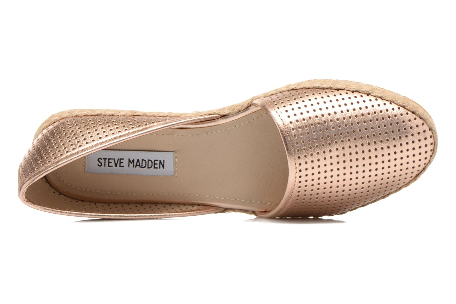 Espadrilles Steve Madden PEACH Pink view from the left