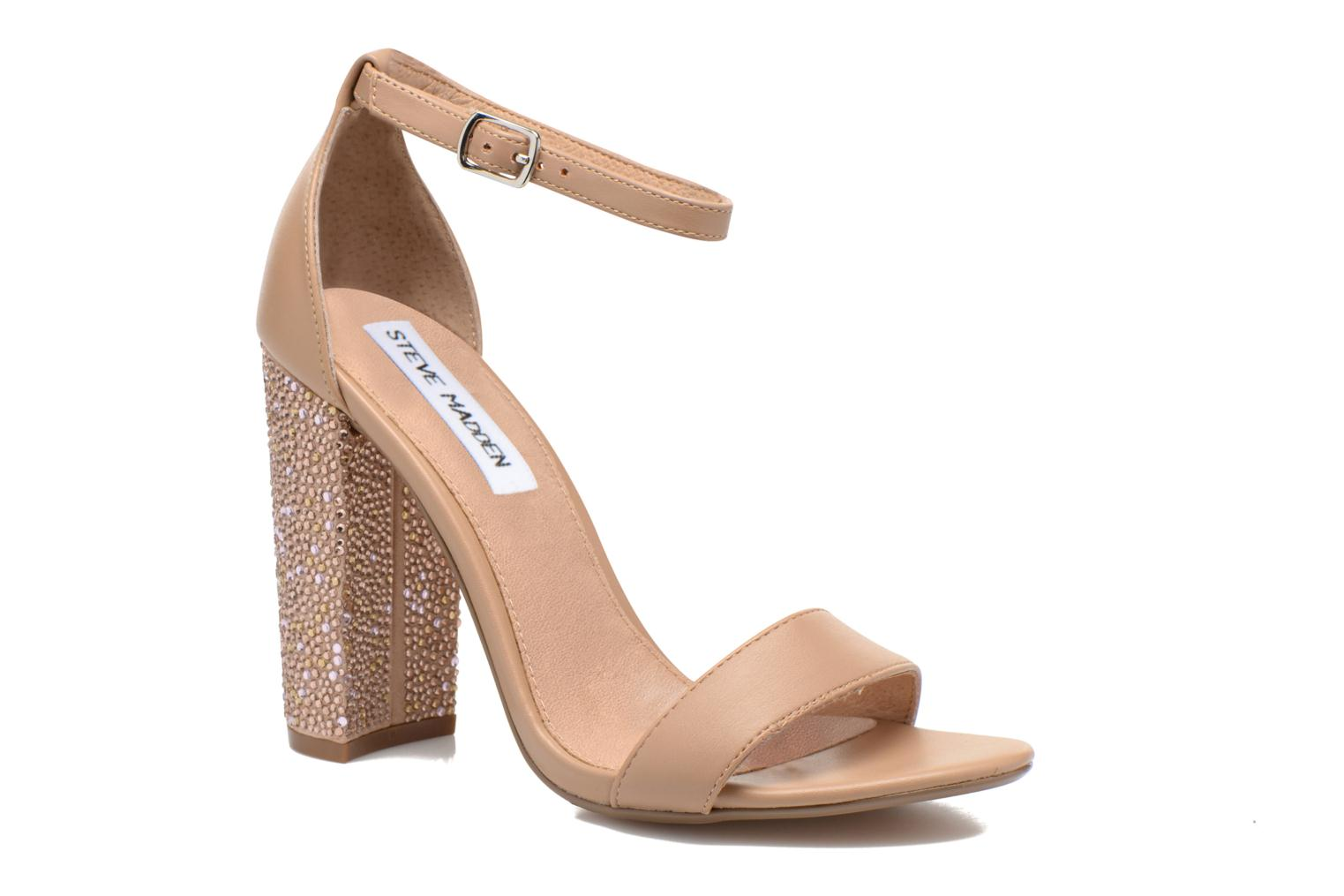 CARRSON Blush Leather Rhinestone