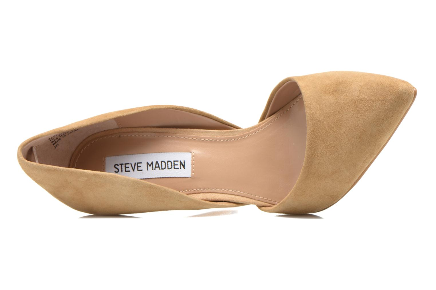 High heels Steve Madden VARCITY Beige view from the left