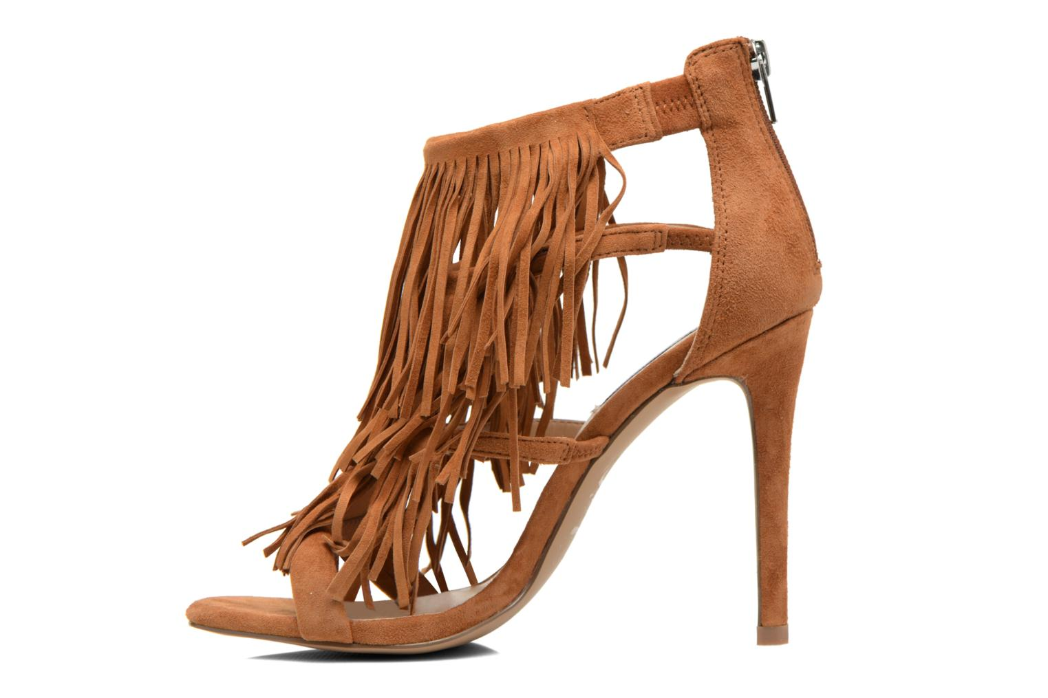 Sandals Steve Madden FRINGLY Brown front view