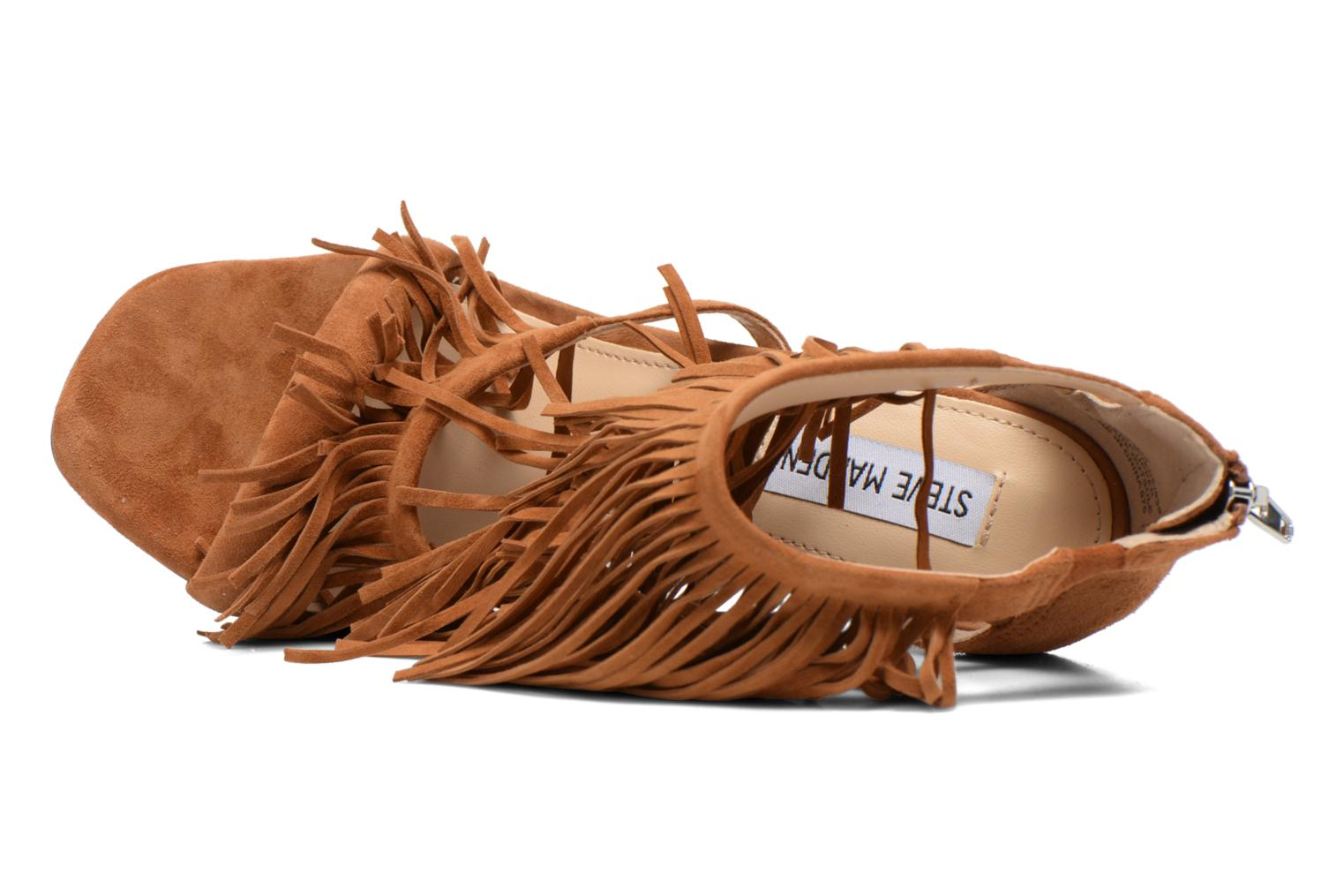 Sandals Steve Madden FRINGLY Brown view from the left