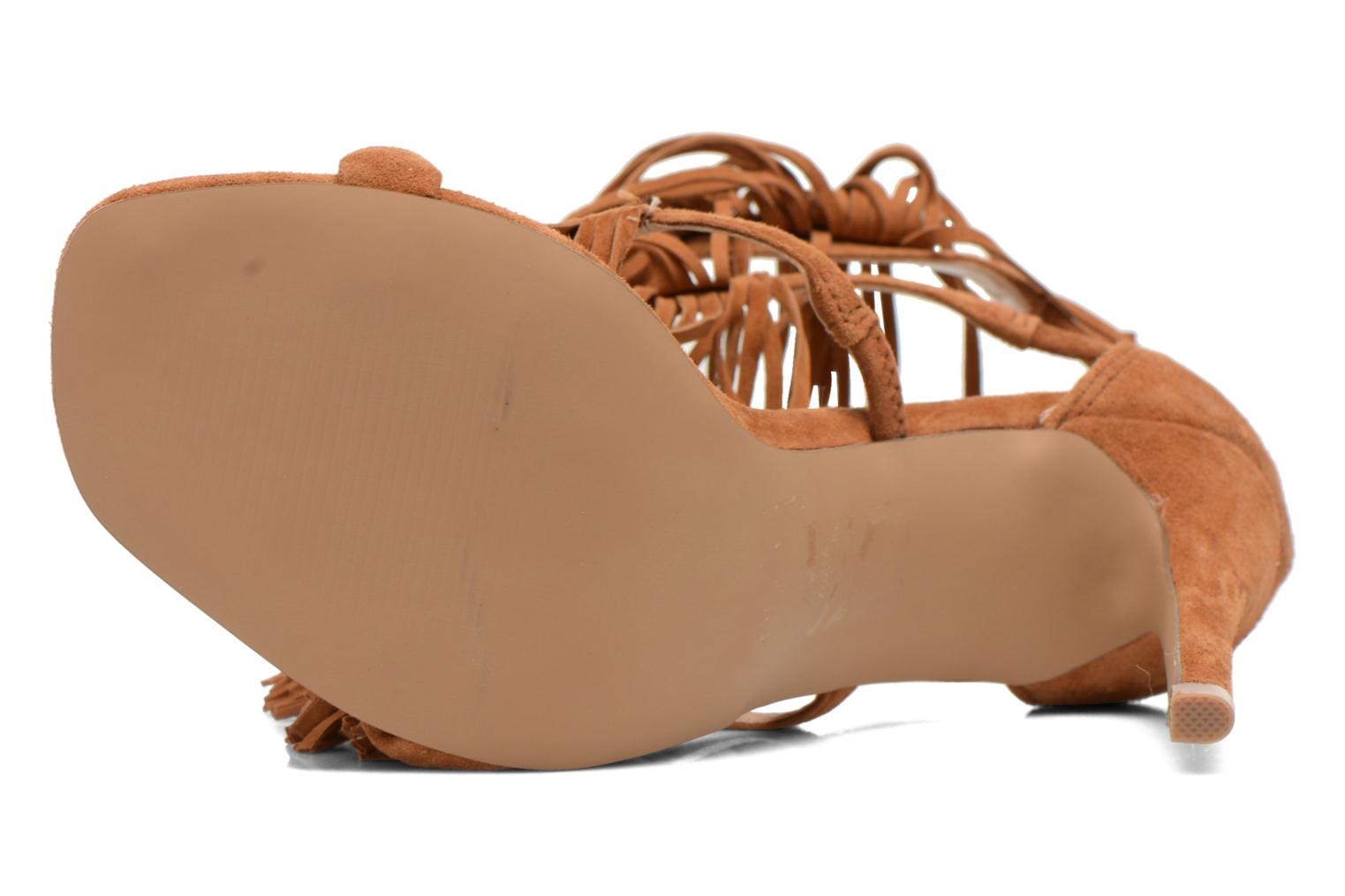 Sandals Steve Madden FRINGLY Brown view from above