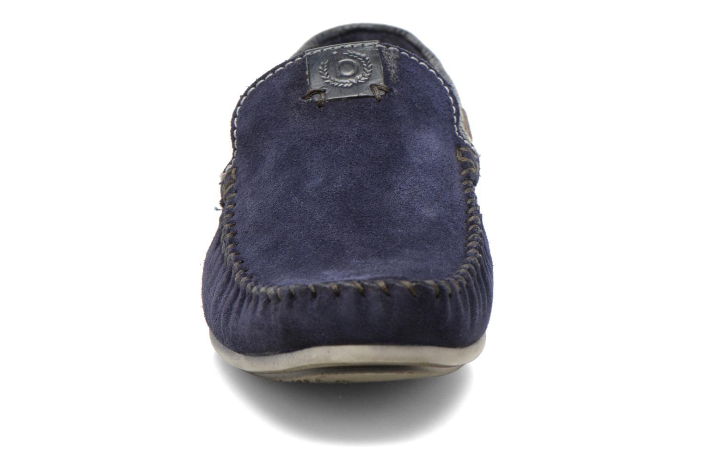 Mocassins Bugatti Berokee Bleu vue portées chaussures