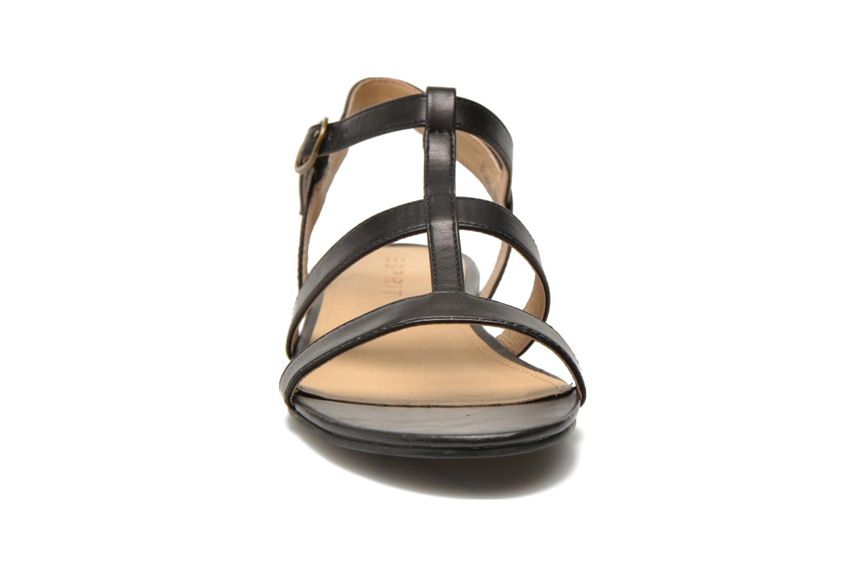 Sandales et nu-pieds Esprit Aely Sandal Noir vue portées chaussures