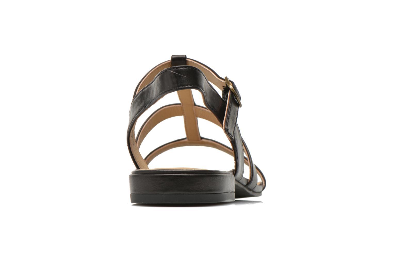 Sandales et nu-pieds Esprit Aely Sandal Noir vue droite