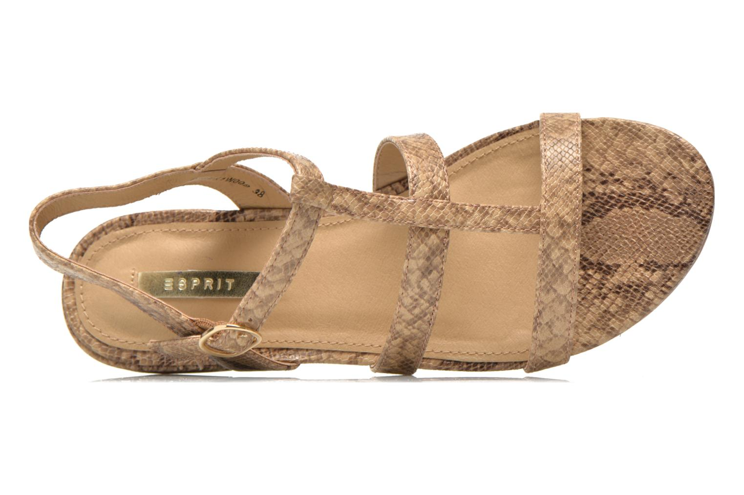 Sandals Esprit Aely Sandal Beige view from the left