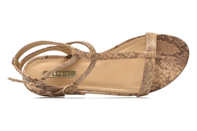 Sandalen Esprit Aely Bis Sandal beige ansicht von links